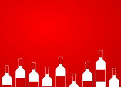 Adesivo Icono plano frascos de vinho sem fundo sobre fundo degradado # 1