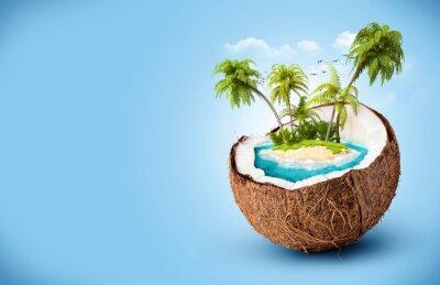 Adesivo ilha tropical