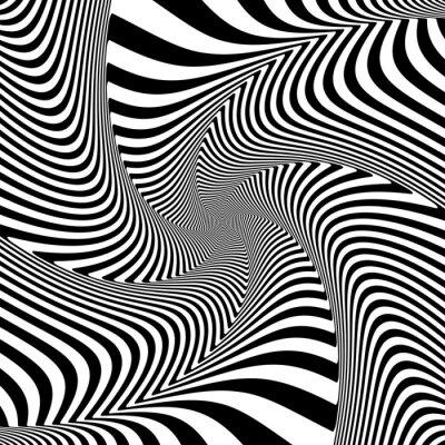 Adesivo Ilusão de movimento de torção torção.