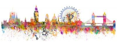 Adesivo Ilustração abstrata do horizonte de Londres