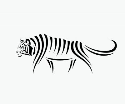 Adesivo Ilustração abstrata do tigre