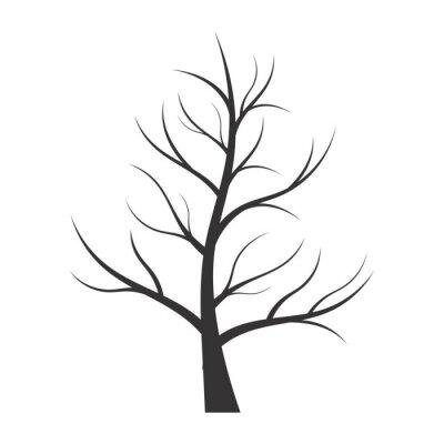 Adesivo Ilustração abstrata - silhueta da árvore