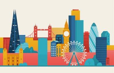 Adesivo Ilustração da cidade de Londres.