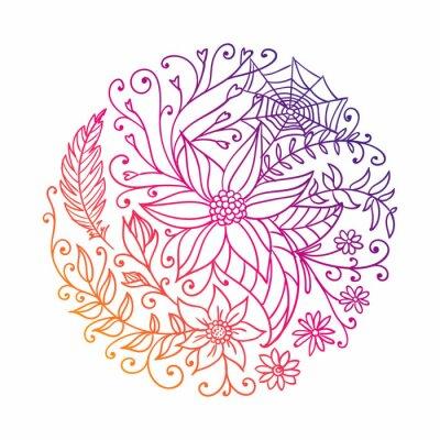 Adesivo Ilustração de um círculo decorativo abstrato
