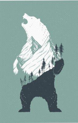 Adesivo Ilustração de urso em pé