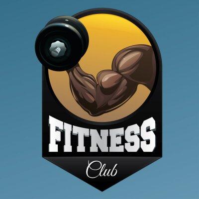 Adesivo Ilustração do emblema do clube da aptidão