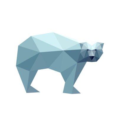 Adesivo Ilustração do urso poligonal