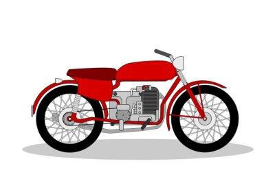 Adesivo Ilustração do velomotor do vintage no branco