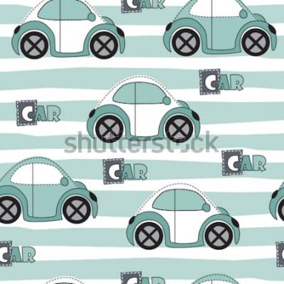 Adesivo ilustração em vetor carro padrão