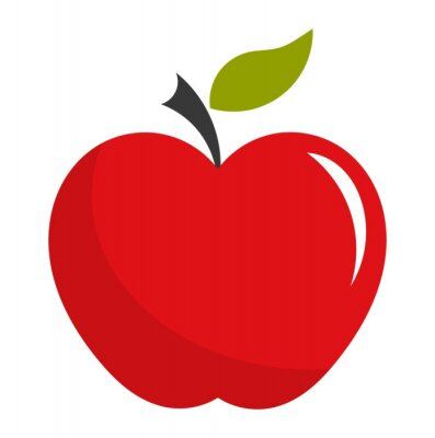 Adesivo Ilustração Red apple