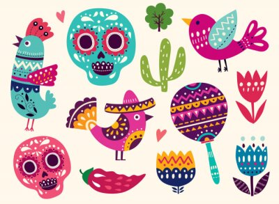 Adesivo Ilustração, Símbolos, México