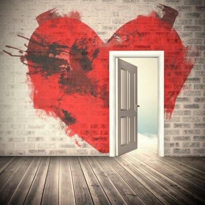 Adesivo Imagem composta do coração
