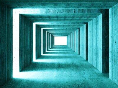 Adesivo imagem multa de túnel concretet 3d abstrato