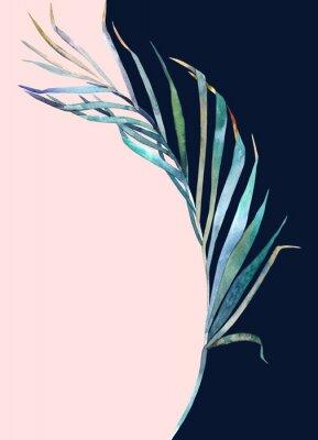 Adesivo Impressão abstrata. Folha de aquarela