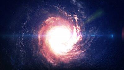 Adesivo Incrivelmente bela galáxia espiral em algum lugar no espaço profundo. Elementos desta imagem fornecidos pela NASA