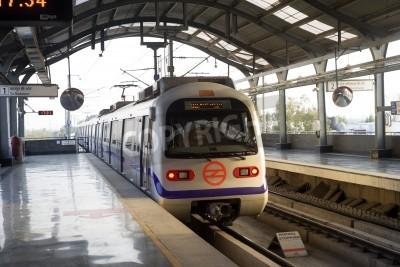 Adesivo Indian modern metro train in Delhi