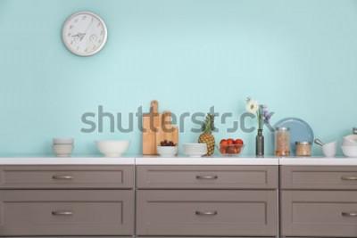 Adesivo Interior da cozinha moderna