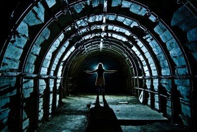 Adesivo Interior, túnel, abandonado, carvão, mina