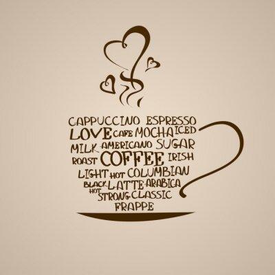 Adesivo Isolada ícone do copo de café