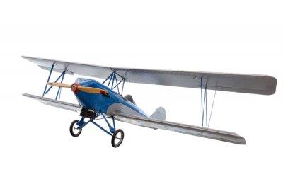 Adesivo Isolado, modelo, avião, contra, branca
