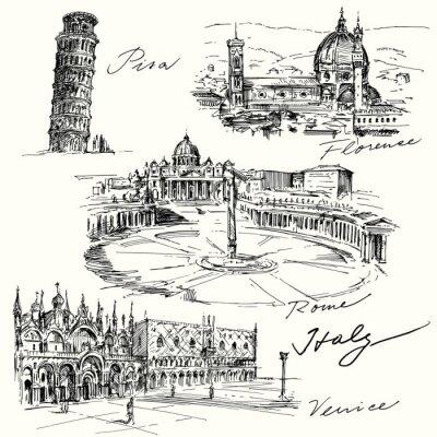 Adesivo Itália - lado coleção desenhada