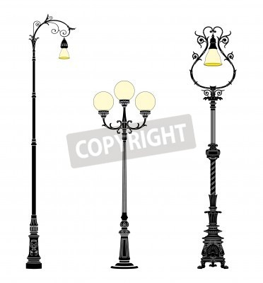 Adesivo Italian forged iron elegant street lamps