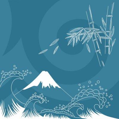 Adesivo Japão estilo de ilustração