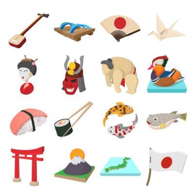 Adesivo Japão, ícones, jogo