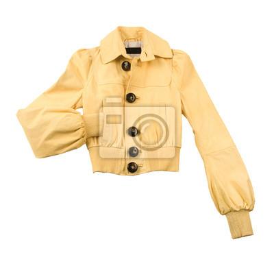 402633e49c Jaqueta de couro amarelo com grandes botões de osso laptop adesivos ...