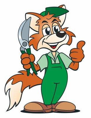 Adesivo jardineiro da raposa