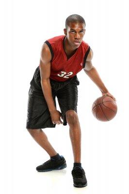 Adesivo Jogador de basquete americano africano