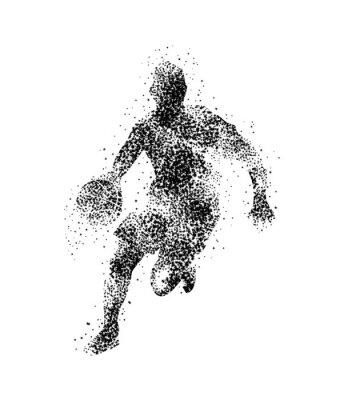 Adesivo Jogador de basquete, silhueta