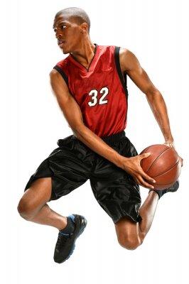 Adesivo Jogador de basquetebol Dunking Bola