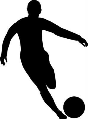 Adesivo jogador de futebol