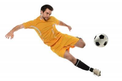 Adesivo Jogador de futebol na ação