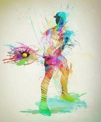 Adesivo Jogador de tênis abstrata