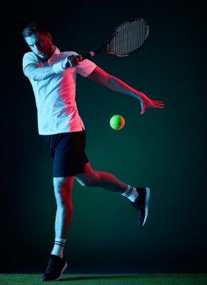 Adesivo Jogador de tênis homem isolado