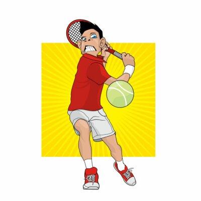 Adesivo Jogador de ténis louco