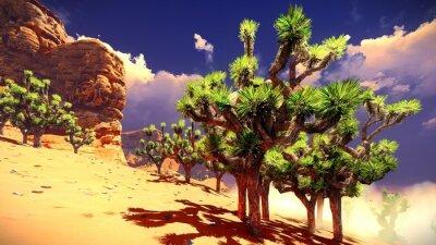 Adesivo Joshua árvores no deserto