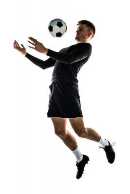 Adesivo Jovem, loiro, homem, tocando, futebol