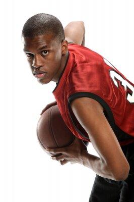 Adesivo Jovem, pretas, basquetebol, jogador
