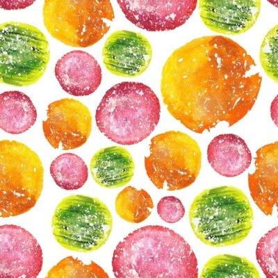Adesivo Juicy Bright Watercolor Circle Pattern