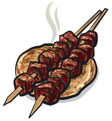 Adesivo Kebab de carne