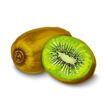 Adesivo Kiwi cartaz isolado ou emblema