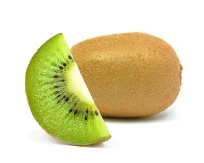Adesivo kiwi em um fundo branco