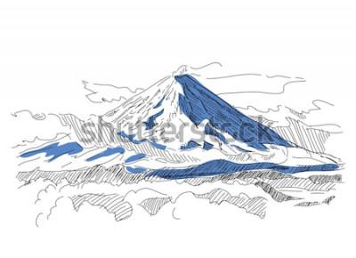 Adesivo Klyuchevskaya Sopka. Vulcão. Kamchatka. Rússia
