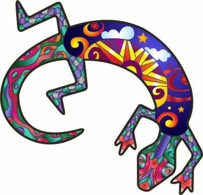 Adesivo Kokopelli Lizard