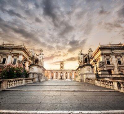 Adesivo La scalinata del Campidoglio, Roma