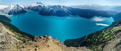 Adesivo Lago alpino e montanhas cobertas de neve