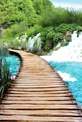 Adesivo Lake of Plitvice passeio mágico, Croácia